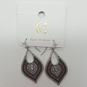 Gorgeous Purple Drop Earrings